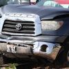 TUNDRA PICK-UP VS. WHITE INFINITY SUV - TRAFFIC COLLISION.
