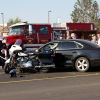California Highway Patrol Motorcycle Officer involved in Collision.