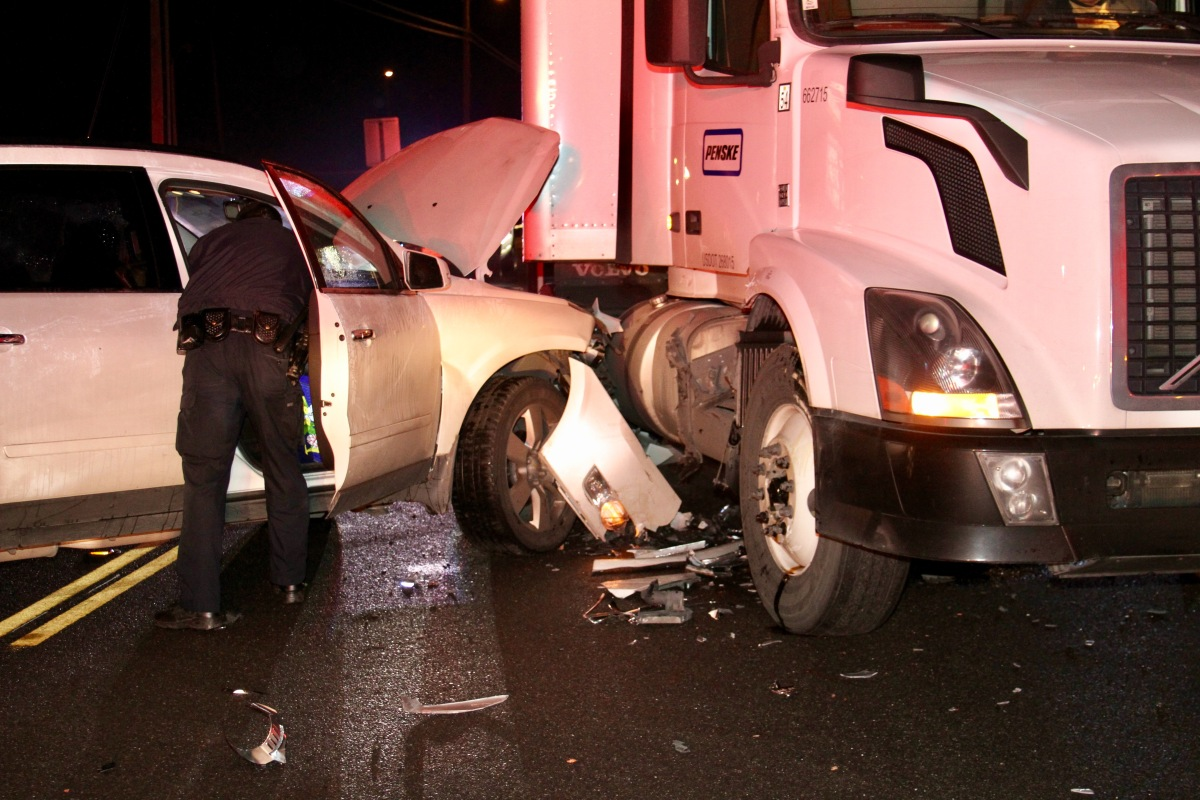 SUV Versus Semi-Truck in Morning Collision on Highway 120