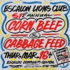 Escalon Lions Club 51st Annual Corn Beef & Cabbage Feed.