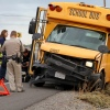 TRAFFIC ACCIDENT INVOLVING SMALL SCHOOL BUS